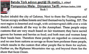Türk adının anlamı- Pompinius Mela'nın eseri
