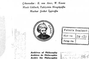 Türkiyede Felsefe ve Felsefeciler-Filozoflar Felsefi Çalışmalar Tarihi